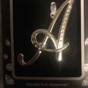 """Swarovski """"A""""holiday ornament"""